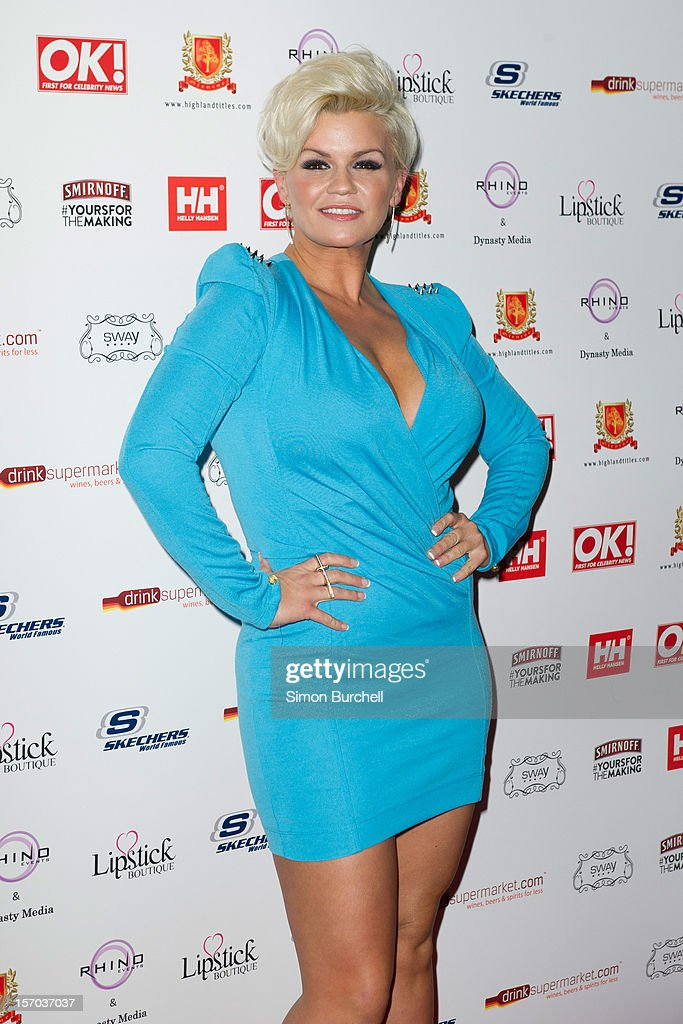 Kerry Katona attends the OK! Magazine Christmas Party at Sway on November 27, 2012 in London, England.