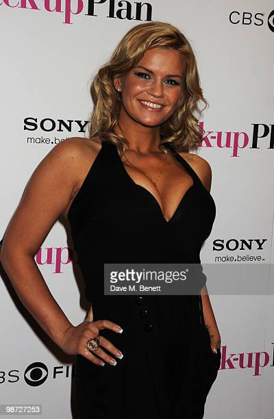 Kerry Katona attends the UK film premiere of 'The BackUp Plan' at Vue West End on April 28 2010 in London England