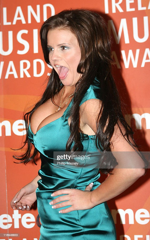 Kerry Katona during Meteor Ireland Music Awards 2006 Press Room at The Point in Dublin Ireland