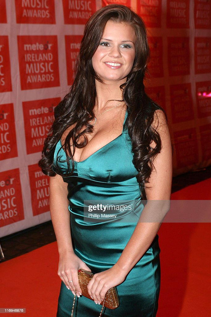 Kerry Katona during Meteor Ireland Music Awards 2006 Red Carpet at The Point in Dublin Ireland