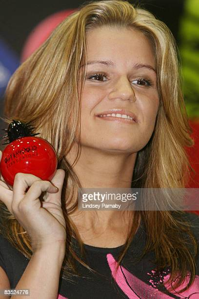 Kerry Katona launches her new fragrance entitled 'Outrageous' at the Fragrance Shop in the Arndale Shopping Centre on November 1 2008 in Manchester...