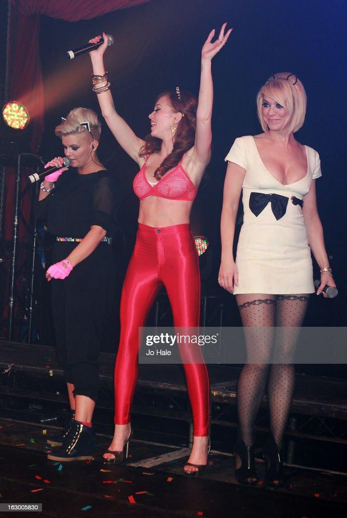 Kerry Katona, Natasha Hamilton and Liz McClarnon of Atomic Kitten perform on stage at G-A-Y on March 2, 2013 in London, England.