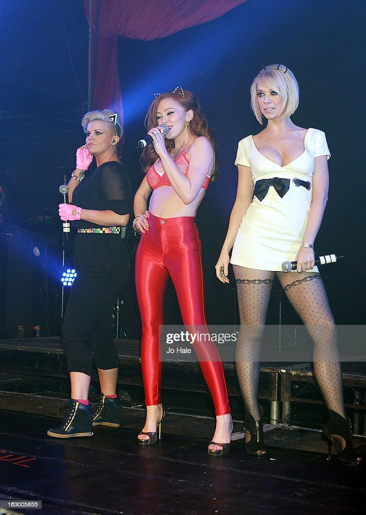 Kerry Katona, <a gi-track='captionPersonalityLinkClicked' href=/galleries/search?phrase=Natasha+Hamilton&family=editorial&specificpeople=203127 ng-click='$event.stopPropagation()'>Natasha Hamilton</a> and <a gi-track='captionPersonalityLinkClicked' href=/galleries/search?phrase=Liz+McClarnon&family=editorial&specificpeople=207149 ng-click='$event.stopPropagation()'>Liz McClarnon</a> of Atomic Kitten perform on stage at G-A-Y on March 2, 2013 in London, England.