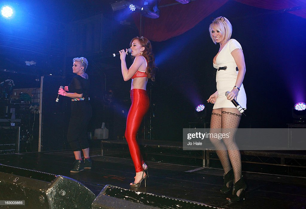 Kerry Katona, Natasha Hamilton and Liz McClarnon of Atomic Kitten perform on stage at G-A-Y on March 2, 2013 in London, England.