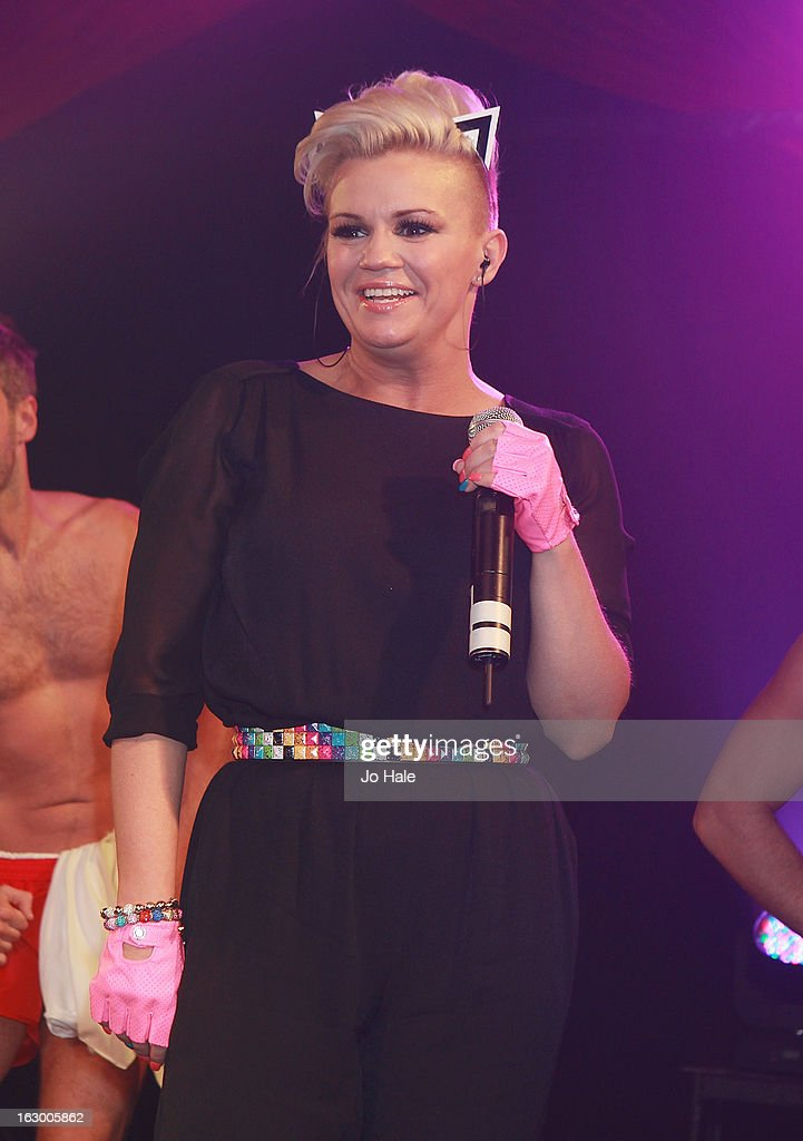 Kerry Katona of Atomic Kitten performs on stage at G-A-Y on March 2, 2013 in London, England.
