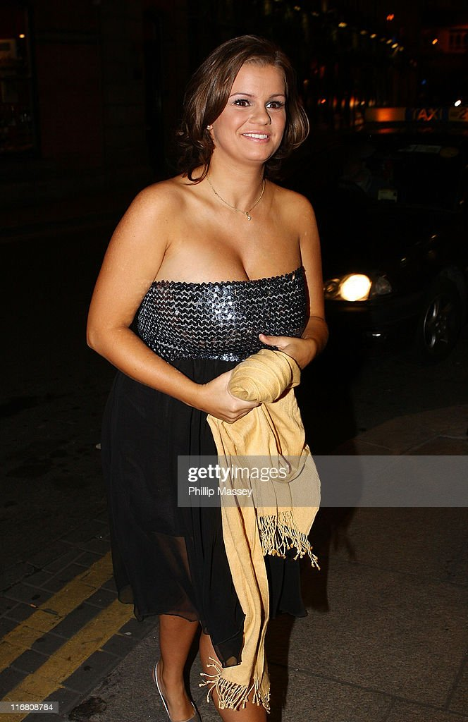 Kerry Katona returning to her hotel on October 19 2007 in Dublin Ireland