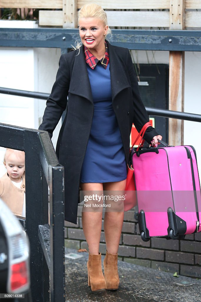 Kerry Katona seen at the ITV Studios after appearing on Loose Women on February 8, 2016 in London, England.