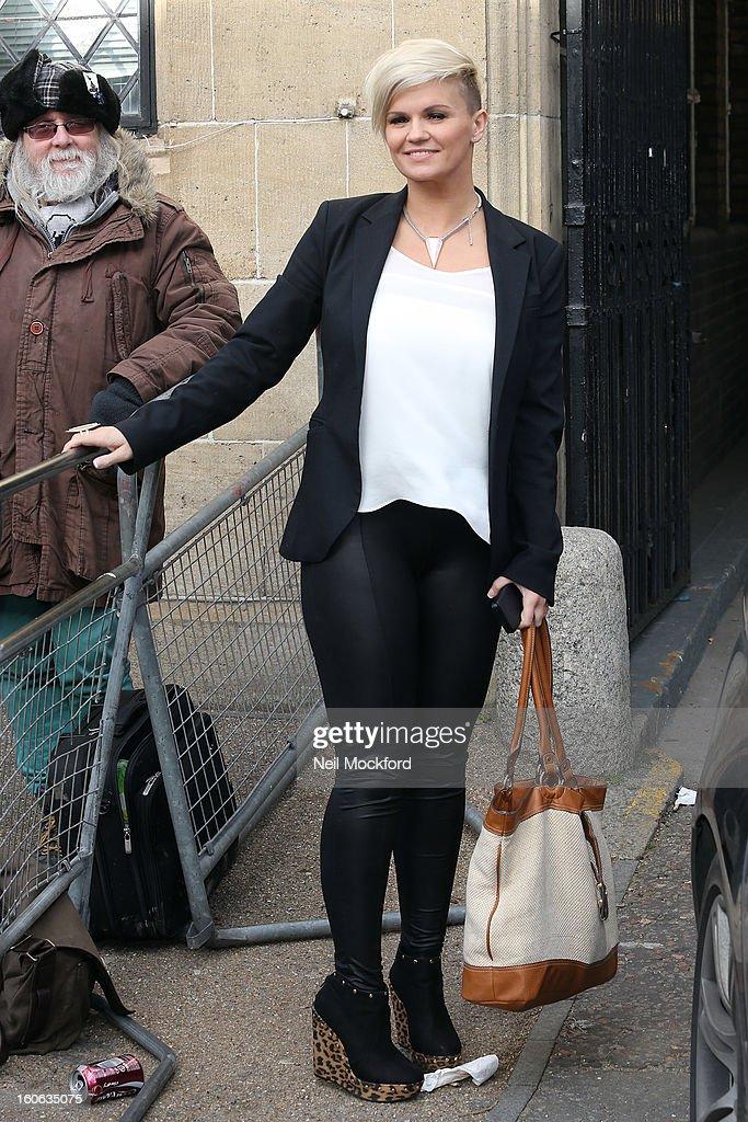 Kerry Katona seen at the ITV Studios on February 4, 2013 in London, England.