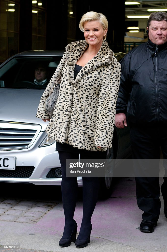 Kerry Katona sighted in London on January 23 2012 in London England