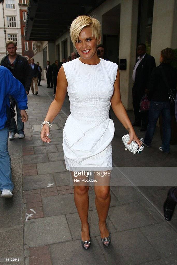 Kerry Katona sighted leaving The Mayfair Hotel on May 12, 2011 in London, England.