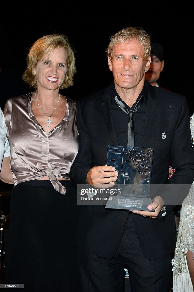 <a gi-track='captionPersonalityLinkClicked' href=/galleries/search?phrase=Kerry+Kennedy&family=editorial&specificpeople=632610 ng-click='$event.stopPropagation()'>Kerry Kennedy</a> and <a gi-track='captionPersonalityLinkClicked' href=/galleries/search?phrase=Michael+Bolton&family=editorial&specificpeople=208230 ng-click='$event.stopPropagation()'>Michael Bolton</a> attends Day 2 of the 2013 Ischia Global Fest on July 14, 2013 in Ischia, Italy.