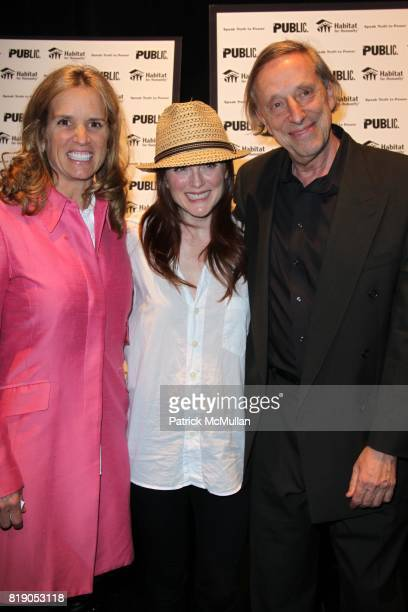 Kerry Kennedy Julianne Moore and Ariel Dorfman attend THE PUBLIC THEATRE Presents a OneNightOnly Benefit Reading of SPEAK TRUTH TO POWER Voice Beyond...