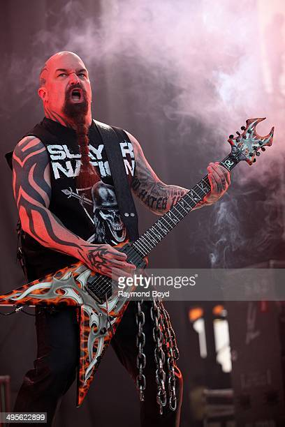 Kerry King from Slayer performs at Columbus Crew Stadium on May 17 2014 in Columbus Ohio