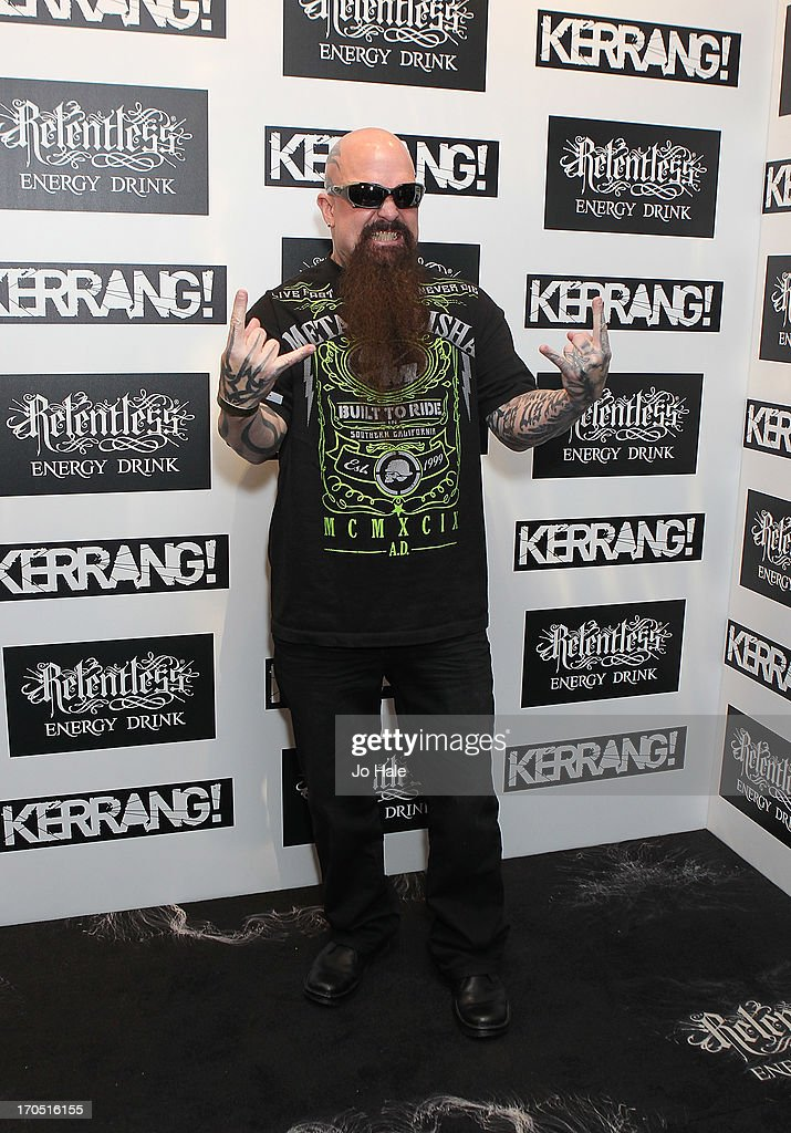 <a gi-track='captionPersonalityLinkClicked' href=/galleries/search?phrase=Kerry+King&family=editorial&specificpeople=236089 ng-click='$event.stopPropagation()'>Kerry King</a> of Slayer attends The Kerrang! Awards at the Troxy on June 13, 2013 in London, England.