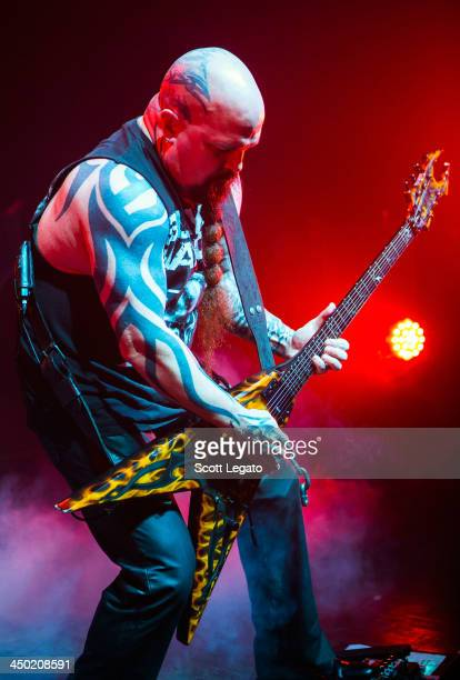 Kerry King of SLAYER performs at The Fillmore Detroit on November 16 2013 in Detroit Michigan
