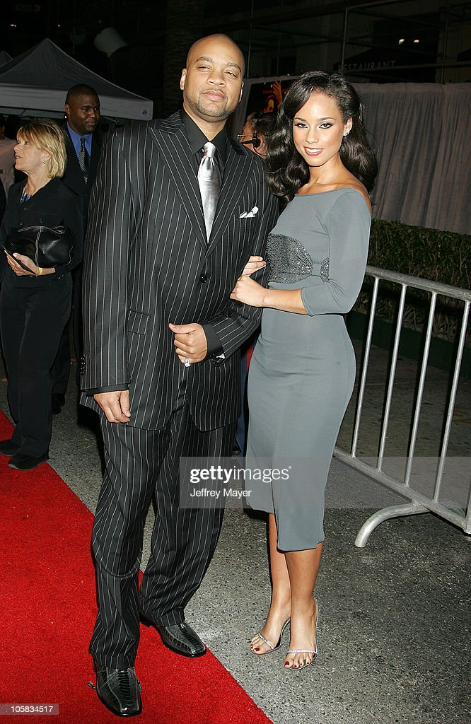 Kerry 'Krucial' Brothers and Alicia Keys during 'Glory Road' World Premiere Arrivals at The Pantages Theater in Hollywood California United States