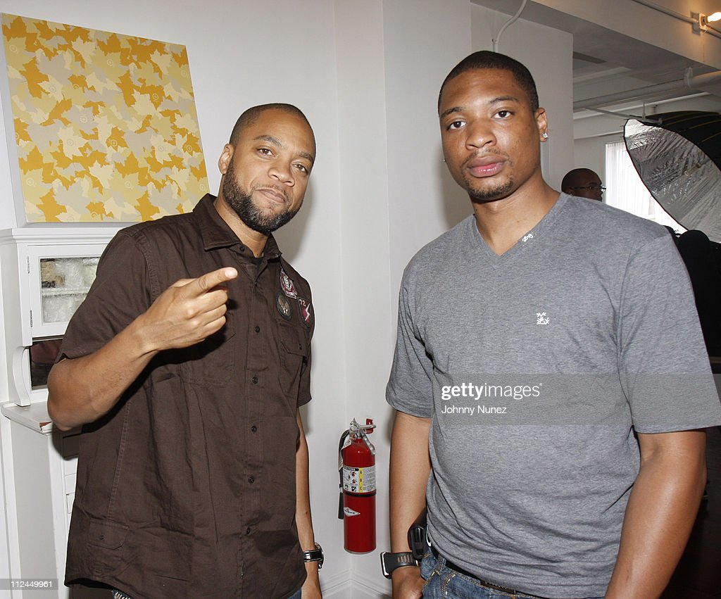 Kerry 'Krucial' Brothers and Kliche attend the LRG Fall / Holiday photoshoot on June 19 2008 at Gary's Loft in New York City