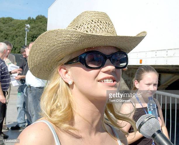 Kerry McFadden during O2 In The Park 2004 at Pheonix Park in Dublin Ireland