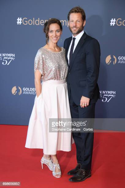 Kerry Norton and Jamie Bamber attend the 57th Monte Carlo TV Festival Closing Ceremony on June 20 2017 in MonteCarlo Monaco