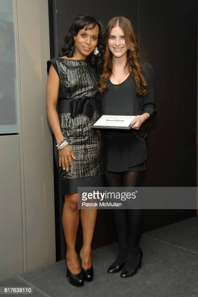 Kerry Washington and Berni Barta attend L'OREAL WOMEN of WORTH Awards Dinner at Hearst Tower on December 9th 2010 in New York City