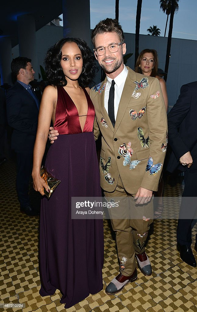 Kerry Washington and Brad Goreski attends VIP Red Carpet Suite Hosted by Ketel One Vodka at 26th Annual GLAAD Media Awards at the Beverly Hilton on...
