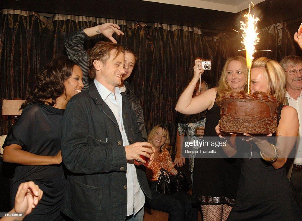 Kerry Washington and David Moscow during David Moscow's Birthday Party at Tao Nightclub at The Venetian Hotel and Casino Resort at Tao Nightclub at...