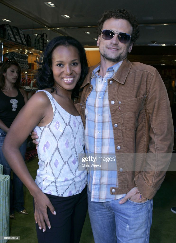 Kerry Washington and David Moscow during Tory Burch Launches West Coast Store 'Tory by TRB' at Tory by TRB in Los Angeles California United States