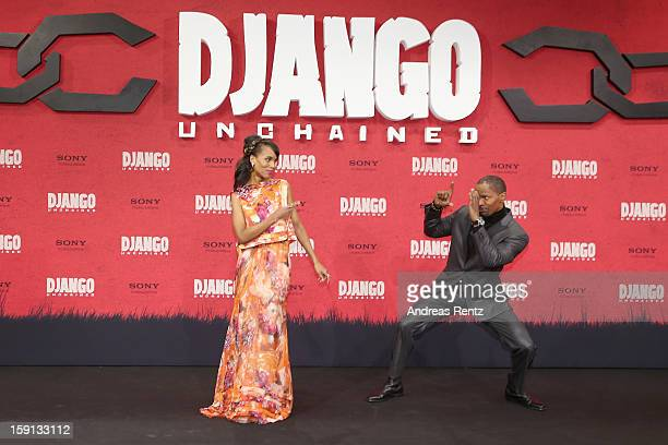 Kerry Washington and Jamie Foxx attend 'Django Unchained' Berlin Premiere at Cinestar Potsdamer Platz on January 8 2013 in Berlin Germany