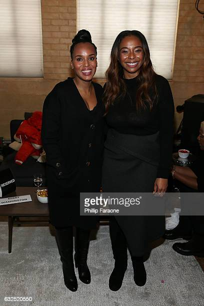 Kerry Washington and Kimberly Steward attend the 2017 Women at Sundance Brunch cohosted by Refinery29 DOVE Chocolate and the Sundance Institute at...