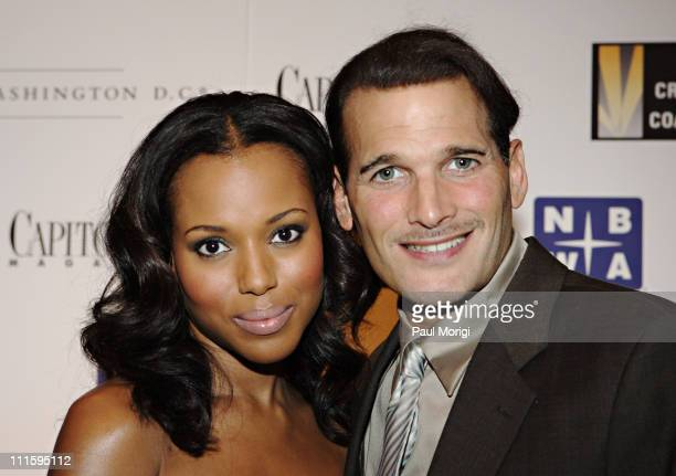 Kerry Washington and Phillip Bloch during The Creative Coalition's Poker Detente 2007 at Park Hyatt Washington in Washington DC New York City United...