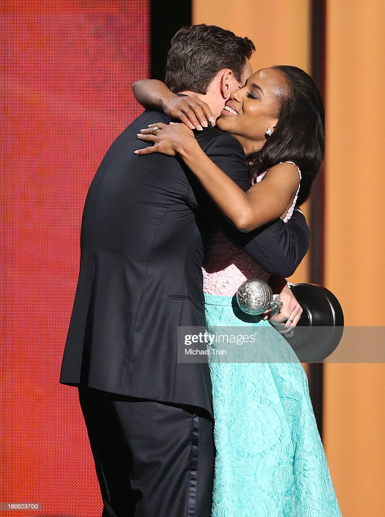Kerry Washington (R) and Tony Goldwyn attend the 44th NAACP Image Awards - show held at The Shrine Auditorium on February 1, 2013 in Los Angeles, California.