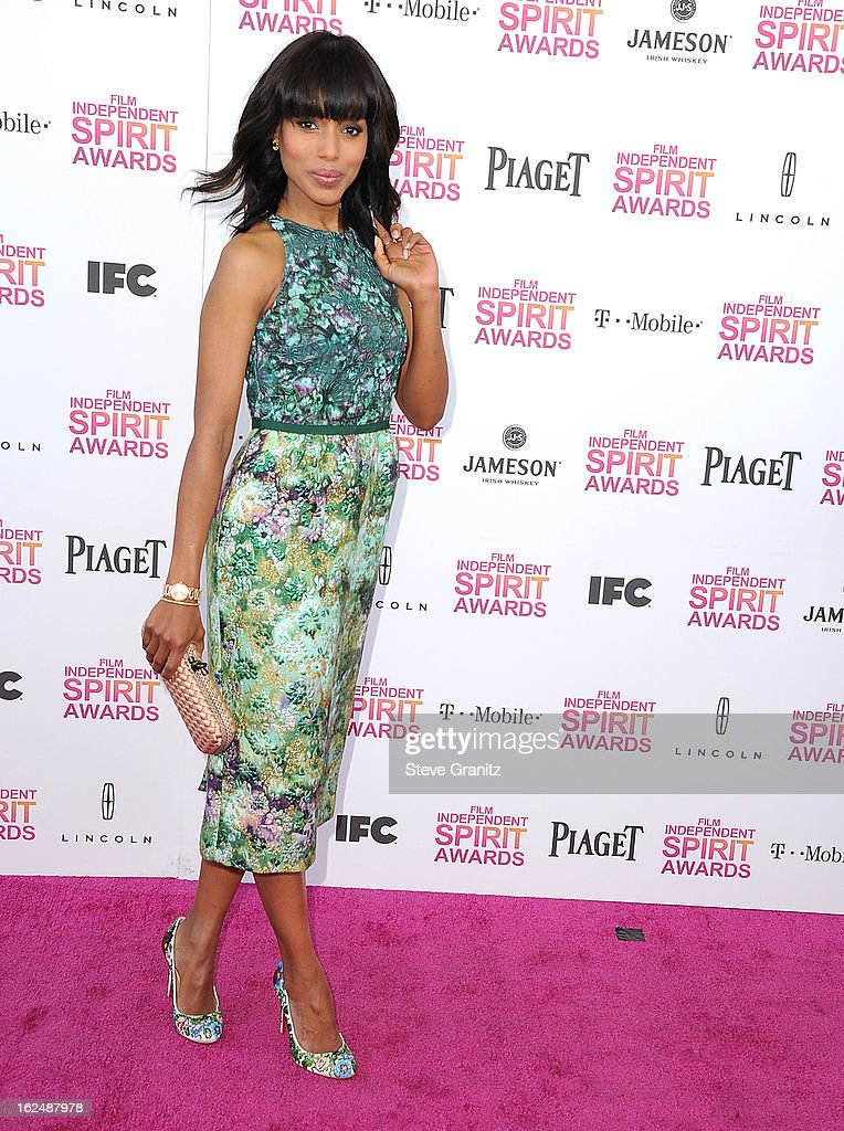 Kerry Washington arrives at the 2013 Film Independent Spirit Awards on February 23, 2013 in Santa Monica, California.