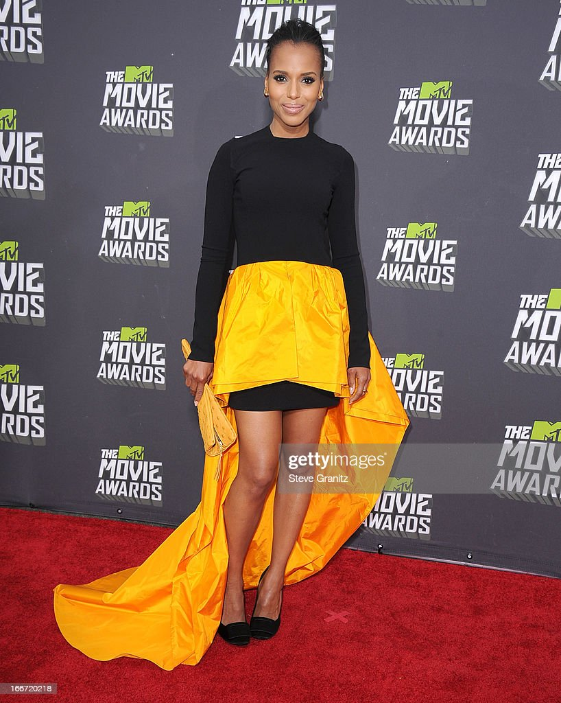 Kerry Washington arrives at the 2013 MTV Movie Awards at Sony Pictures Studios on April 14, 2013 in Culver City, California.