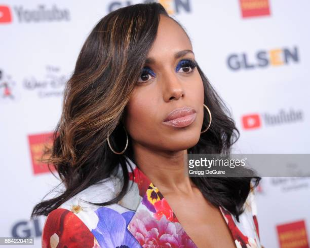 Kerry Washington arrives at the 2017 GLSEN Respect Awards at the Beverly Wilshire Four Seasons Hotel on October 20 2017 in Beverly Hills California