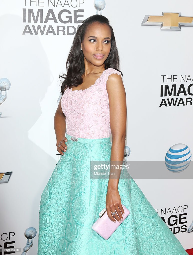 <a gi-track='captionPersonalityLinkClicked' href=/galleries/search?phrase=Kerry+Washington&family=editorial&specificpeople=201534 ng-click='$event.stopPropagation()'>Kerry Washington</a> arrives at the 44th NAACP Image Awards held at The Shrine Auditorium on February 1, 2013 in Los Angeles, California.