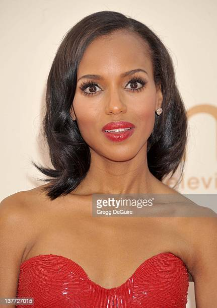 Kerry Washington arrives at the Academy of Television Arts Sciences 63rd Primetime Emmy Awards at Nokia Theatre LA Live on September 18 2011 in Los...
