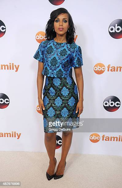 Kerry Washington arrives at the Disney ABC Television Group's 2015 TCA Summer Press Tour on August 4 2015 in Beverly Hills California