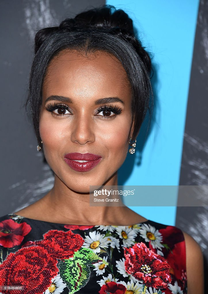 Kerry Washington arrives at the Premiere Of HBO Films' 'Confirmation' at Paramount Theater on the Paramount Studios lot on March 31 2016 in Hollywood...
