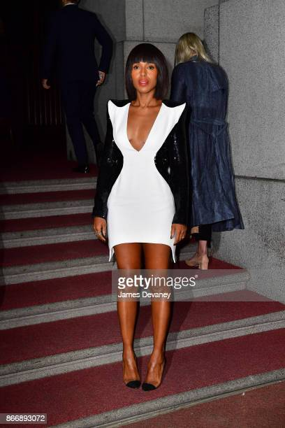 Kerry Washington arrives to the 2017 FGI Night Of Stars Modern Voices gala at Cipriani Wall Street on October 26 2017 in New York City