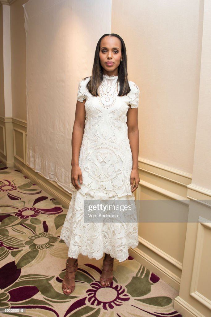 Kerry Washington at the 'Scandal' Press Conference at the Four Seasons Hotel on October 18, 2017 in Beverly Hills, California.