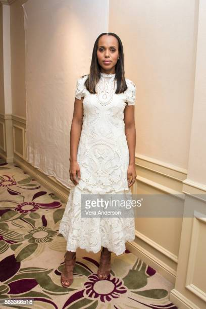 Kerry Washington at the 'Scandal' Press Conference at the Four Seasons Hotel on October 18 2017 in Beverly Hills California