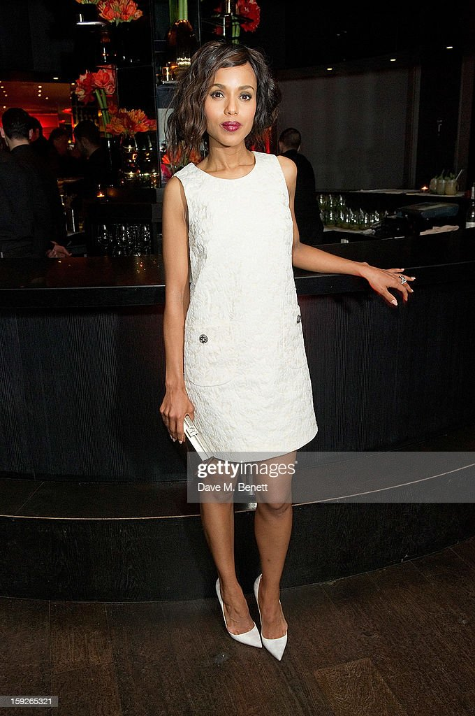 Kerry Washington attends an after party following the UK Premiere of 'Django Unchained' at Aqua on January 10, 2013 in London, England.