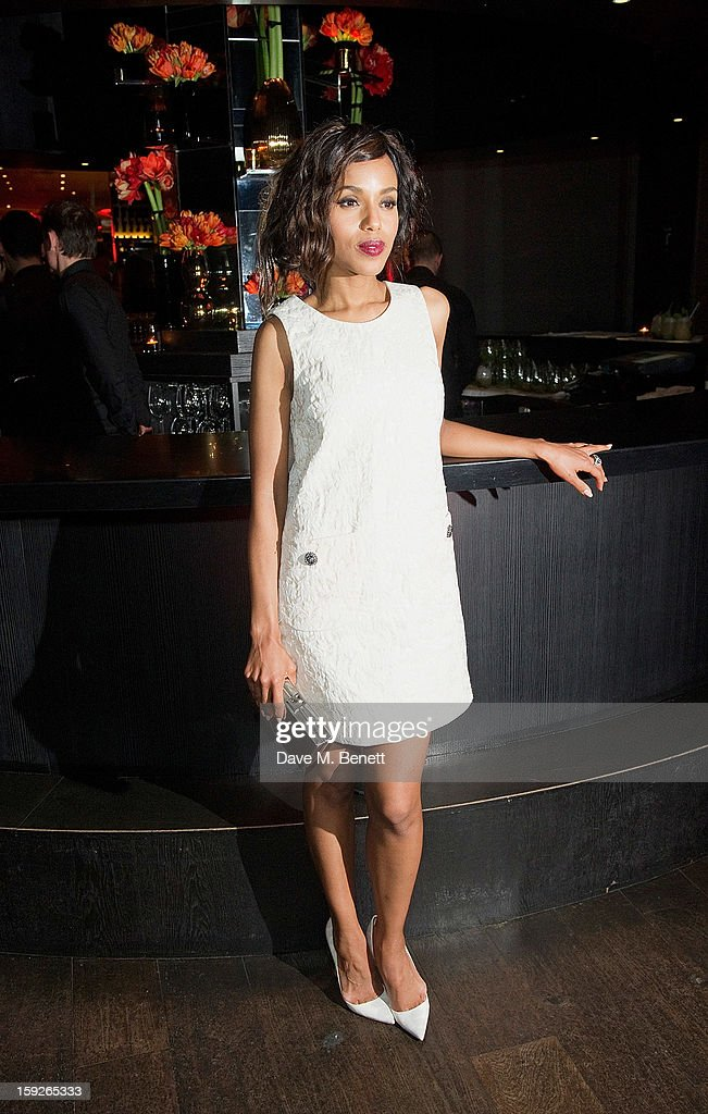 <a gi-track='captionPersonalityLinkClicked' href=/galleries/search?phrase=Kerry+Washington&family=editorial&specificpeople=201534 ng-click='$event.stopPropagation()'>Kerry Washington</a> attends an after party following the UK Premiere of 'Django Unchained' at Aqua on January 10, 2013 in London, England.