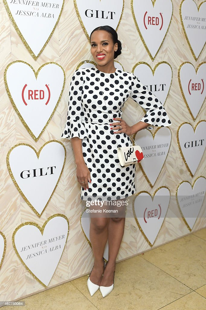 Kerry Washington attends Gilt And Celebrate The Launch Of Jennifer Meyer xo Jessica Alba at Sunset Tower Hotel on February 3 2015 in West Hollywood...