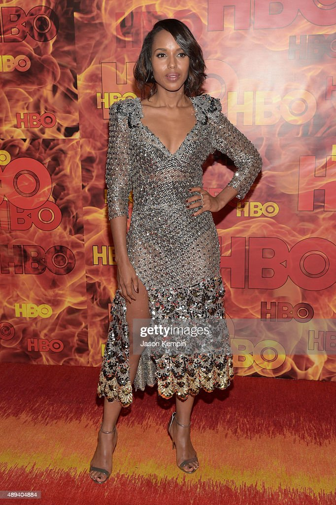 Kerry Washington attends HBO's Official 2015 Emmy After Party at The Plaza at the Pacific Design Center on September 20 2015 in Los Angeles California