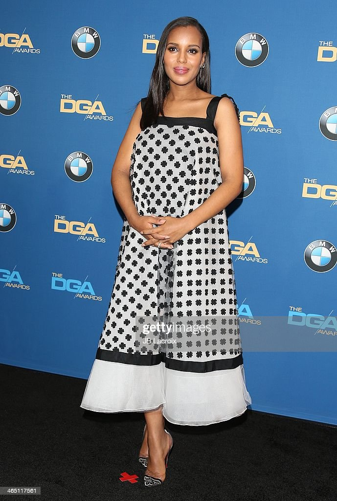 <a gi-track='captionPersonalityLinkClicked' href=/galleries/search?phrase=Kerry+Washington&family=editorial&specificpeople=201534 ng-click='$event.stopPropagation()'>Kerry Washington</a> attends the 66th Annual Directors Guild Of America Awards - Press Room held at the Hyatt Regency Century Plaza on January 25, 2014 in Century City, California.