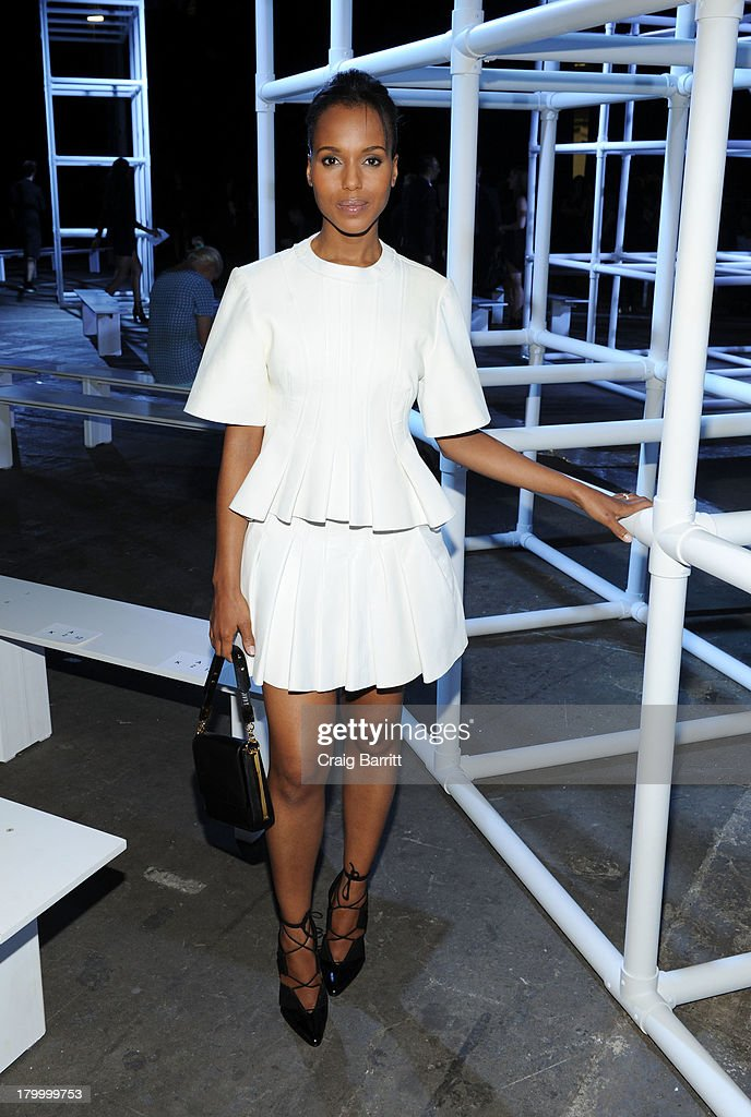 Kerry Washington attends the Alexander Wang fashion show during Mercedes-Benz Fashion Week Spring 2014 at Pier 94 on September 7, 2013 in New York City.