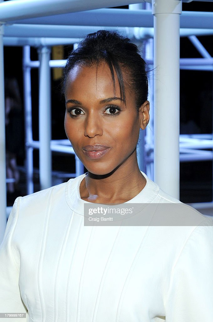 <a gi-track='captionPersonalityLinkClicked' href=/galleries/search?phrase=Kerry+Washington&family=editorial&specificpeople=201534 ng-click='$event.stopPropagation()'>Kerry Washington</a> attends the Alexander Wang fashion show during Mercedes-Benz Fashion Week Spring 2014 at Pier 94 on September 7, 2013 in New York City.