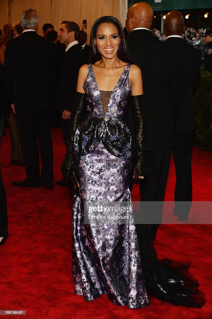 Kerry Washington attends the Costume Institute Gala for the 'PUNK: Chaos to Couture' exhibition at the Metropolitan Museum of Art on May 6, 2013 in New York City.