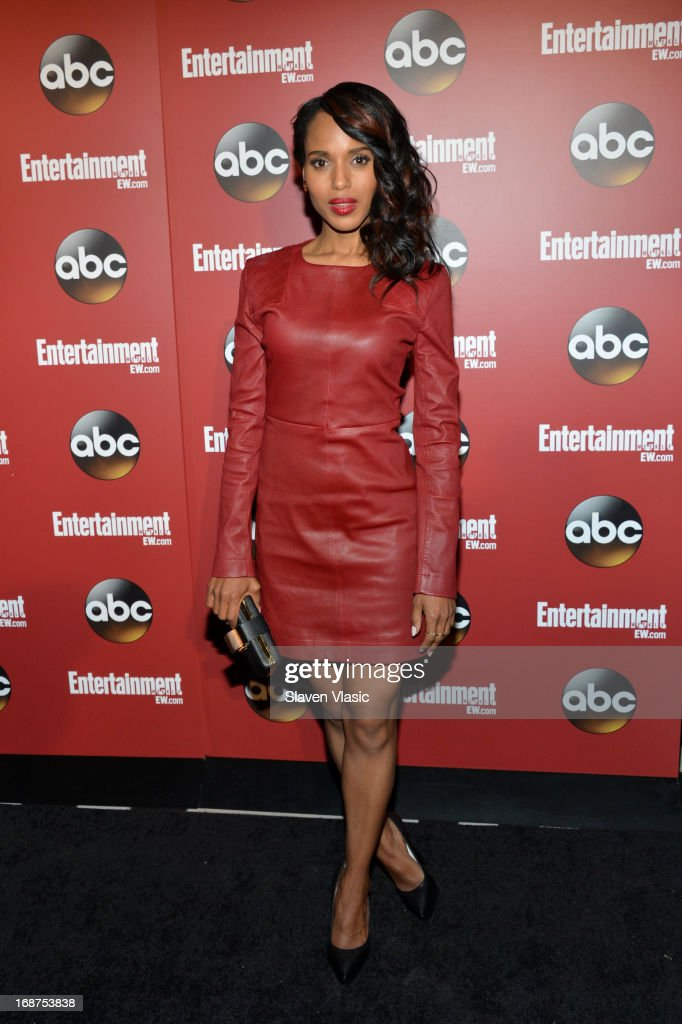 <a gi-track='captionPersonalityLinkClicked' href=/galleries/search?phrase=Kerry+Washington&family=editorial&specificpeople=201534 ng-click='$event.stopPropagation()'>Kerry Washington</a> attends the Entertainment Weekly & ABC-TV Upfronts Party at The General on May 14, 2013 in New York City.